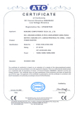 CE Certificate for 8800-81500 Power Inverter
