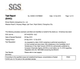 Reach test report by SGS-Christmas tree stand