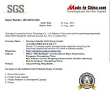 Audited SGS qualified supplier certificatoin