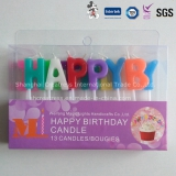 ashionable Happy Birthday Letter Candle with Different Sizes Characters