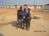 angola prefabriacated house with chirldren