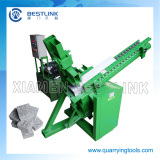 Gravity feeding stone brick splitting machine