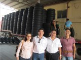 Truck tyres transport to domestic agents