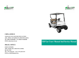 Golf cart users′ manual and service manual