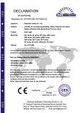 CE Ccertificate of solar light