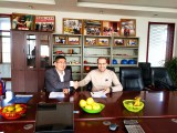 Saudi Arabia Client Come to sign Contract with Tavol