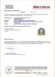 SGS Certificate of Xiujiang