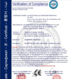 CE Certification for Fastener Insertion Machine