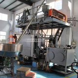blowing machine for plastic parts