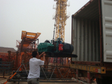 Loading hoisting mechanism of Self-raised tower crane