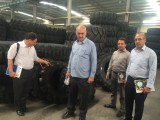 Foreign customers visit factory