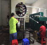 Rotor lacquer driping machines