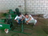 Install rebar wire straightening&cutting machine in Saudi Arabia