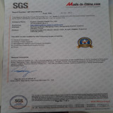 SGS report qualified by Made in China