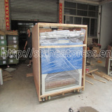 automatic heat press machine packing with wooden case outside