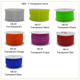 ABS filament 7 transparency color