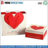 Red love paper gift box bag set