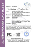 FCC Certificate of Par Light