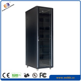 "19"" Glass door network cabinet with arc perforated door frame"