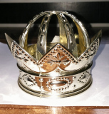 Plastic Gold Color King Crown