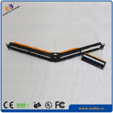 Angled UTP cat6A patch panel