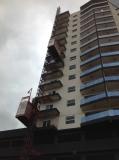 Building hoist in Paraguay