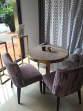 Small Marble Table Displayed In UK Client′s Villa
