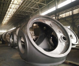 Large castings in warehouse