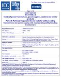 Transformer IEC test report