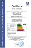 Certificate about energy efficiency of lifts: Grade A