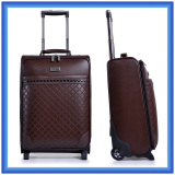 practical pu leather trolley bag,travel luggage case