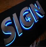 Custom Illuminated Signs LED Module Light Backlight Outdoor Illuminated Signs