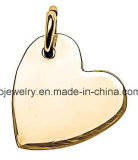 Custom Plain Logo Tag Sideways Heart Rose Gold Charm