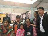 Boss David with Customer family