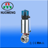 sanitary stainless pneumatic male thread butterfly valve