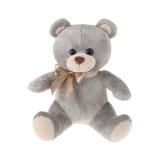 Teddy bear with silk bowknot