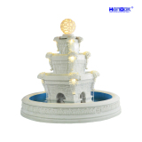 Large Home & Garden Decoration Sandstone LED Lighting Water Fountain