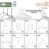 chrome metal hanger