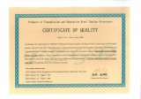 220KV and below steel structures Certificate of Quality