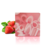 Bath Soap for Cleansing with Strawberry Flavor