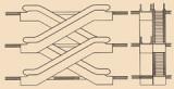 Crisscross, continuous arrangement (two-way traffic)