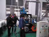 Customer from Egypt visiting for PVC pipe extruder