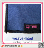 microfiber cloth with weave label