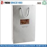 White lanmination paper shopping bag