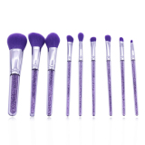 2017 New 9pcs cosmetic brush set with purple handle