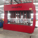 Hydraulic dished head configuring machine