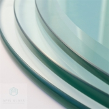 Table top flat polished edges tempered glass