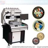 Soft enamel dispensing machine