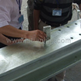 checking the thickness of hot deep galvanized
