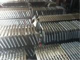steel parts on stock